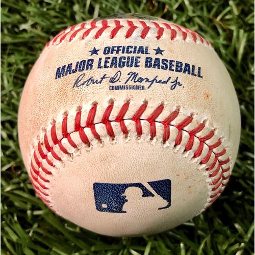 Photo of Game Used Baseball: Hanser Alberto single off Trevor Richards - August 26, 2020 v BAL
