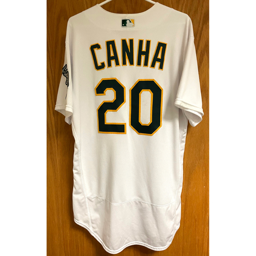 Photo of Game-Used Jersey - Mark Canha (Authenticated for 4 games, incl-HR #5 (walk-off) & ALDS Gm 1)