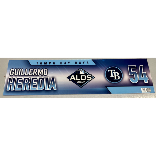 Photo of Team Issued ALDS Locker Tag: Guillermo Heredia - 3 Games - October 4, 5, 10, 2019 at HOU