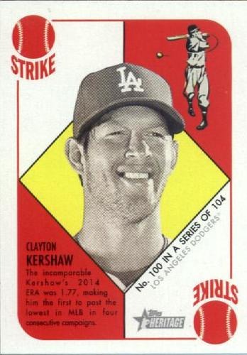 Photo of 2015 Topps Heritage '51 Collection #100 Clayton Kershaw