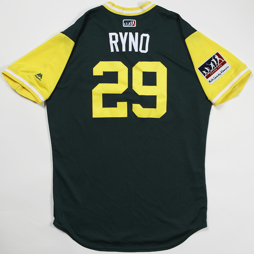 "Photo of Ryan ""Ryno"" Christenson Oakland Athletics Game-Used Jersey 2018 Players' Weekend Jersey"