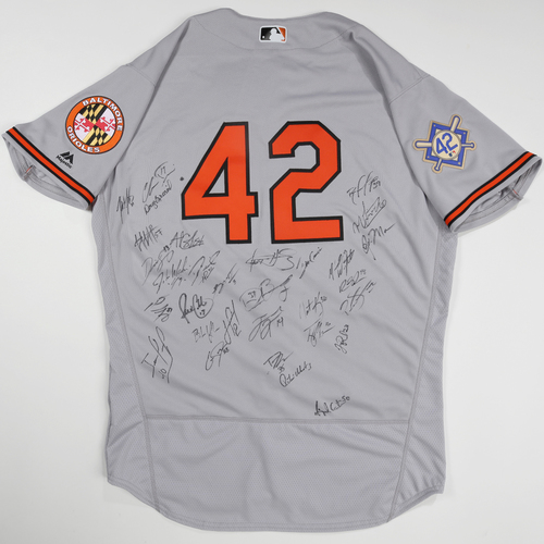 Photo of 2019 Jackie Robinson Day Jersey - Baltimore Orioles Team Autographed Jersey
