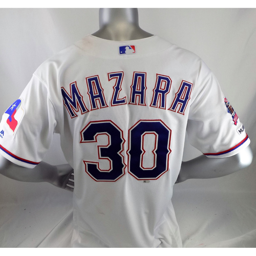 Photo of Nomar Mazara Game-Used White 505ft Homerun Jersey - 6/21/19 v CWS