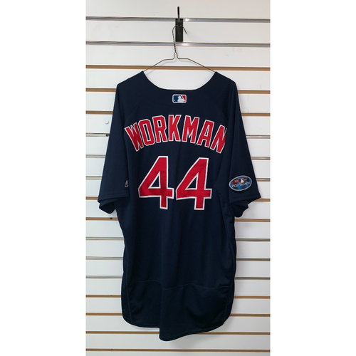Photo of Brandon Workman Game Used September 21, 2018 Road Alternate Jersey