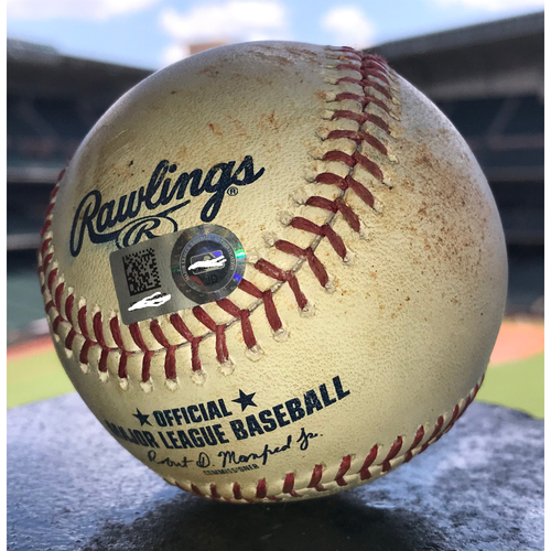 Photo of Game-Used Baseball: 6/28/19 Astros vs Mariners, Wade Miley to Tim Beckham (5-2 Fielder's Choice)