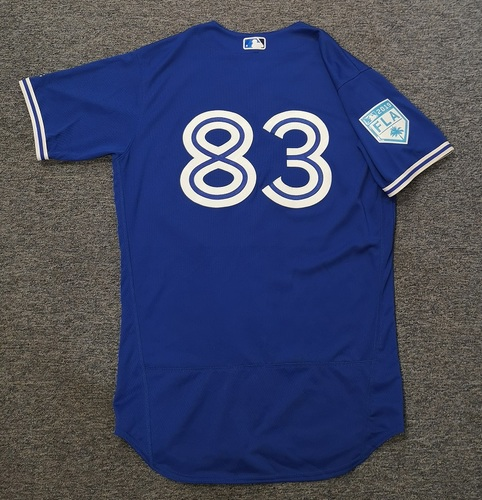 Photo of Authenticated Game Used 2019 Spring Training Jersey - #83 Ty Tice (Mar 26). Size 44