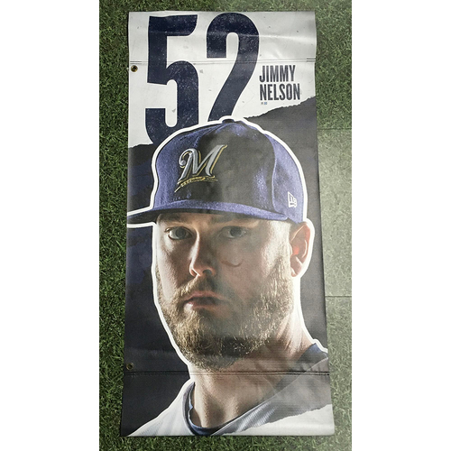 Photo of Jimmy Nelson 2019 Team-Issued Plaza Banner