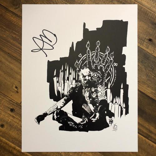 Aleister Black SIGNED 11 x 14 Rob Schamberger Print