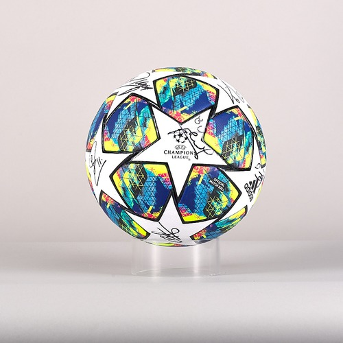 Photo of A 19/20 Champions League ball signed by the AFC Ajax Team