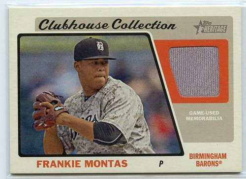 Photo of 2015 Topps Heritage Minors Clubhouse Collection Relics #CCRFM Frankie Montas
