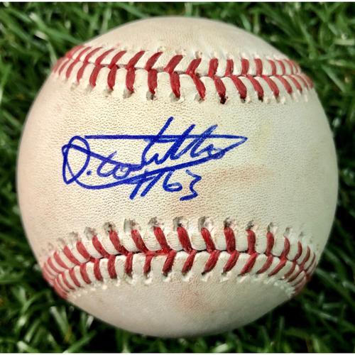 Photo of Rays Baseball Foundation: Game Used Baseball - Diego Castillo MLB Debut - June 6, 2018 at WSH