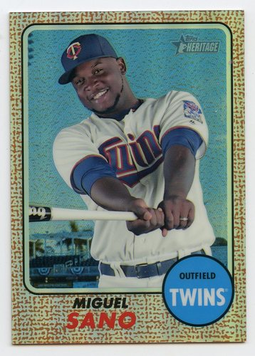 Photo of 2017 Topps Heritage Chrome Refractors #THC436 Miguel Sano