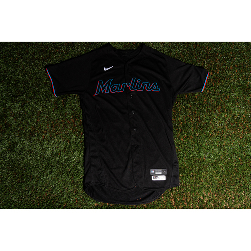 Photo of Promote the Vote: Game-Used Sandy Alcantara Marlins Black Jersey