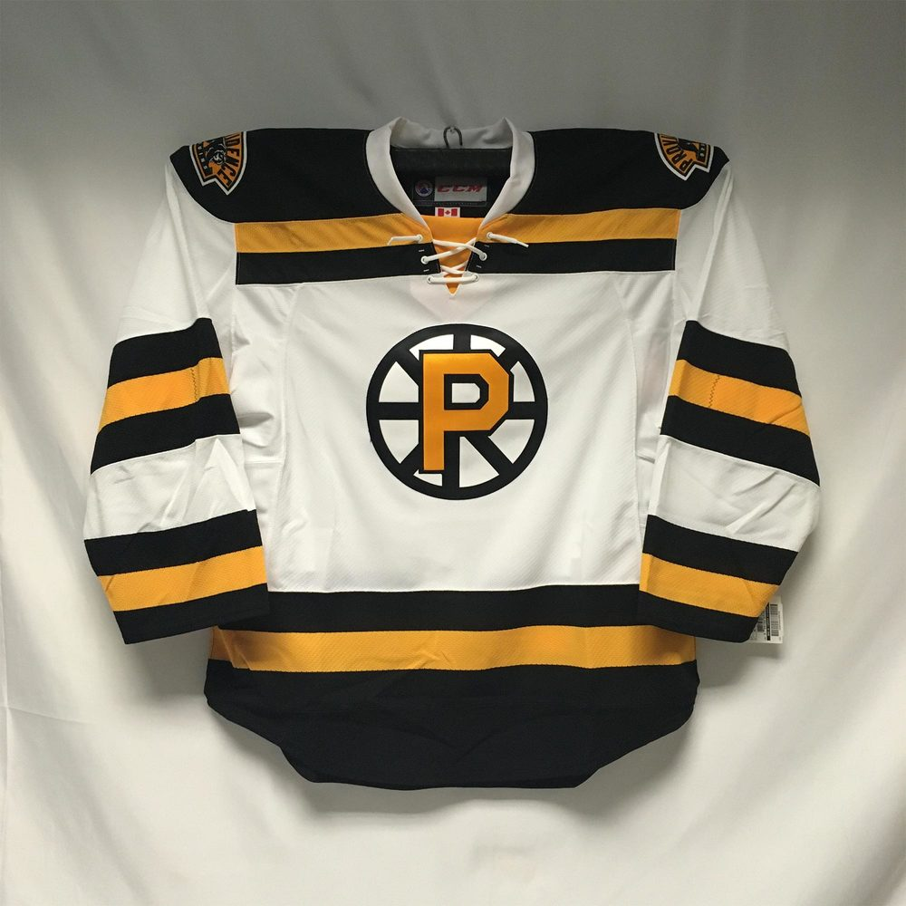 2018-19 Providence Bruins White Authentic CCM Edge Jersey