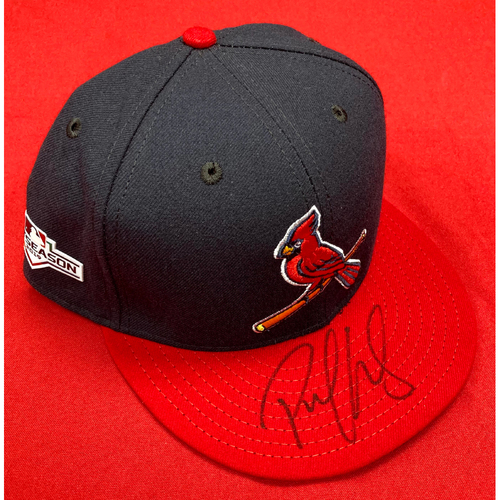 Photo of Paul Goldschmidt Autographed Team-Issued Alternate Cap w/ 2019 Postseason Patch (Size 8)