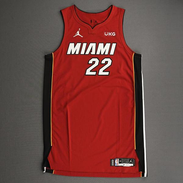 Image of Jimmy Butler - Miami Heat - Game-Worn - Statement Edition Jersey - Christmas Day 2020 - 1st Half
