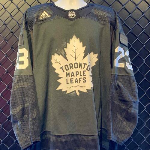 #23 Travis Dermott Canadian Armed Forces Night Worn Jersey (Size 56)