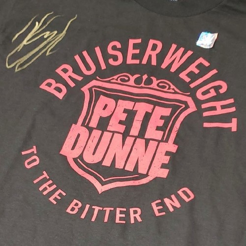 """Photo of Pete Dunne SIGNED """"Bruiserweight"""" Authentic T-Shirt"""