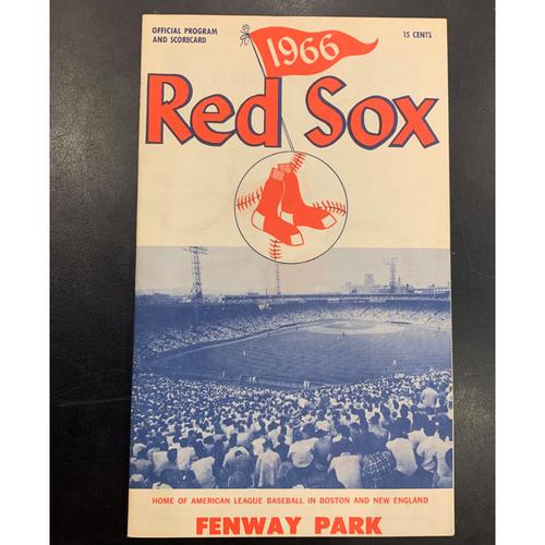 1966 Red Sox Official Program and Scorecard vs Baltimore Orioles