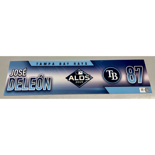 Photo of Team Issued ALDS Locker Tag: Jose De Leon - 3 Games - October 4, 5, 10, 2019 at HOU