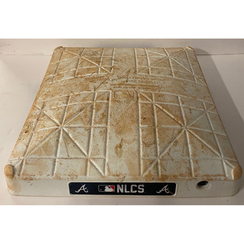 Photo of October 17, 2021 Game Used First Base Used Innings 7-9 - Eddie Rosario Walk-Off Single - NLCS Game 2