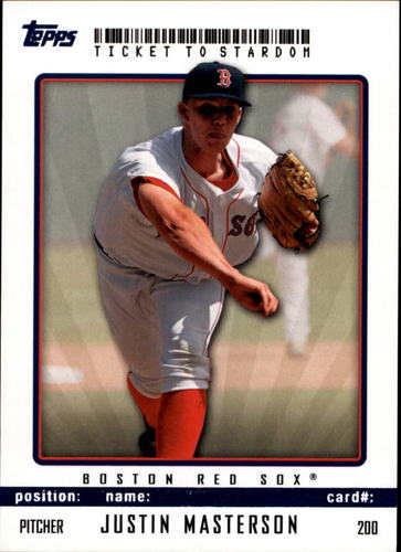 Photo of 2009 Topps Ticket to Stardom Blue #200 Justin Masterson
