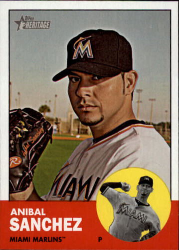 Photo of 2012 Topps Heritage #344 Anibal Sanchez