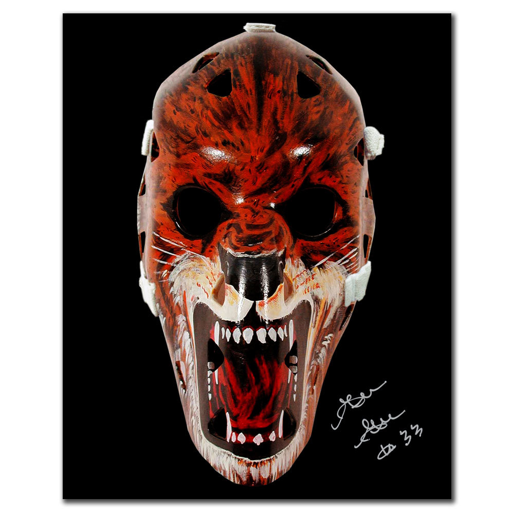 Gilles Gratton New York Rangers Mask Autographed 8x10