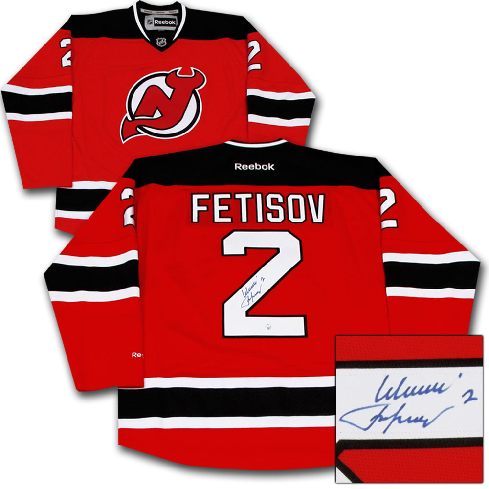 Viacheslav Fetisov Autographed New Jersey Devils Jersey - NHL Auctions dbde7bf2ffd