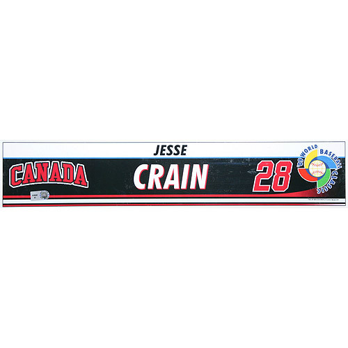 Photo of 2009 World Baseball Classic: Jesse Crain (CAN) Game-Used Locker Name Plate