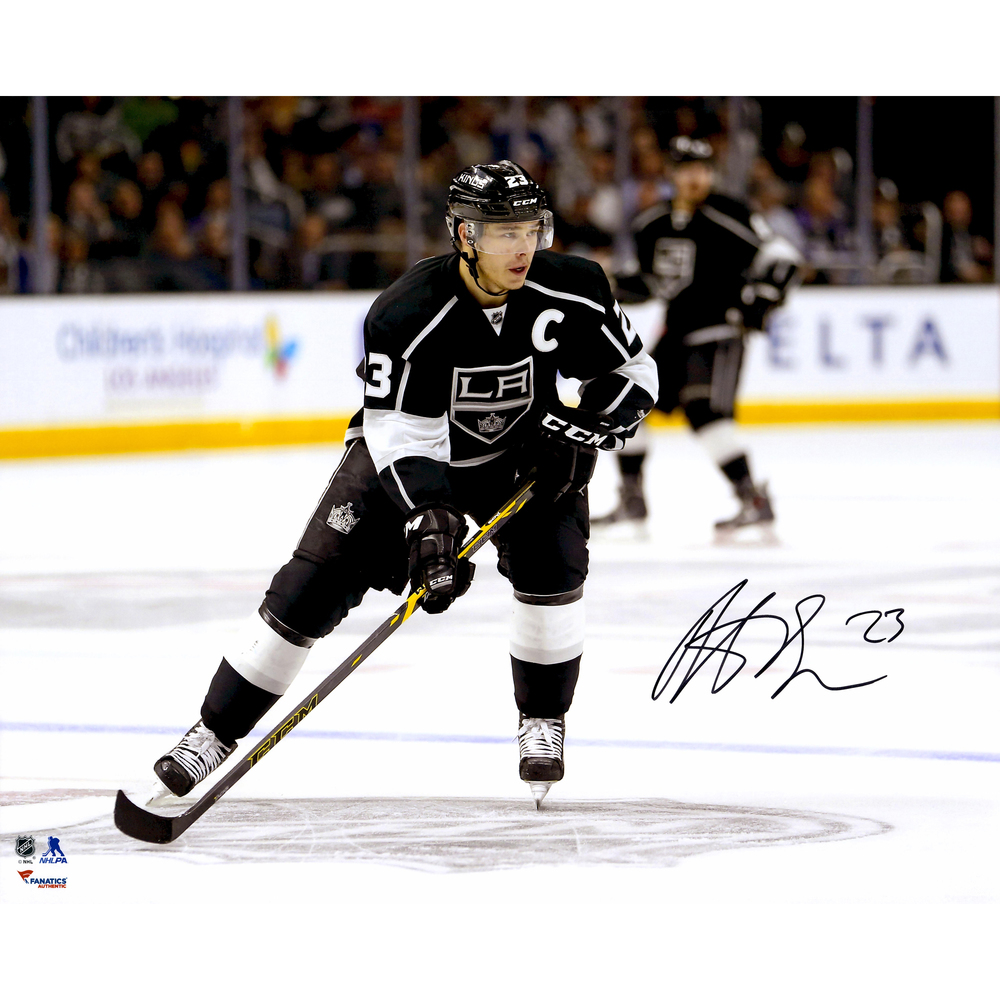 Dustin Brown Los Angeles Kings Autographed Black Jersey Skating 16