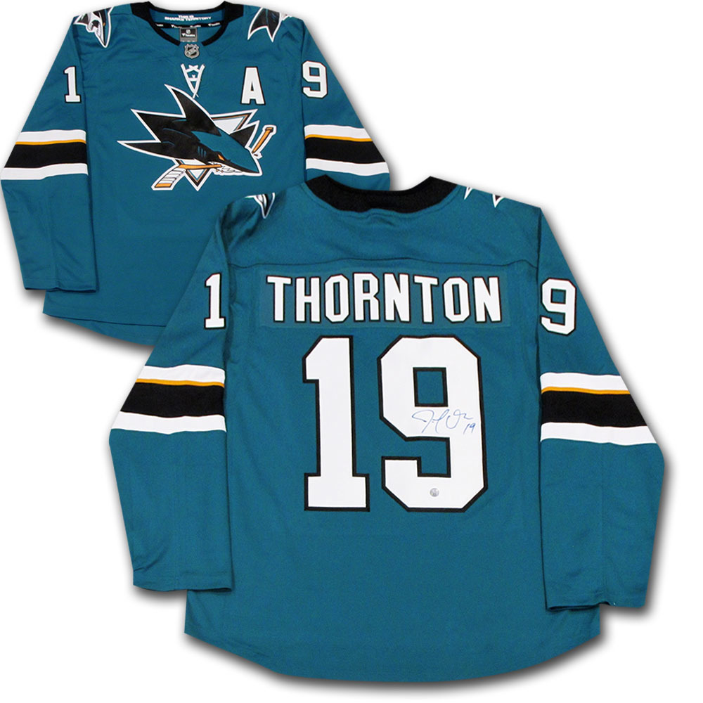Joe Thornton Autographed San Jose Sharks Fanatics Jersey