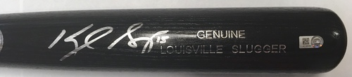 Photo of Kyle Seager Autographed Black Louisville Slugger Bat
