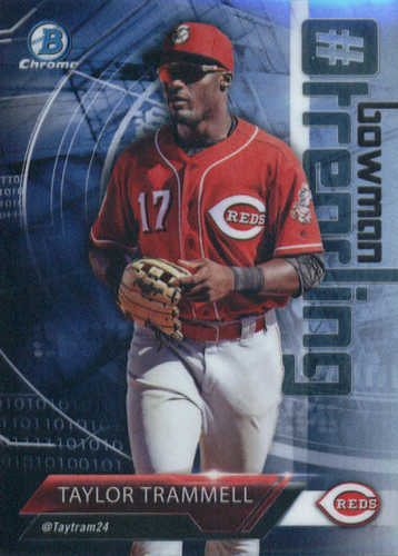 Photo of 2018 Bowman Chrome Hashtag Bowman Trending Refractors #TT Taylor Trammell