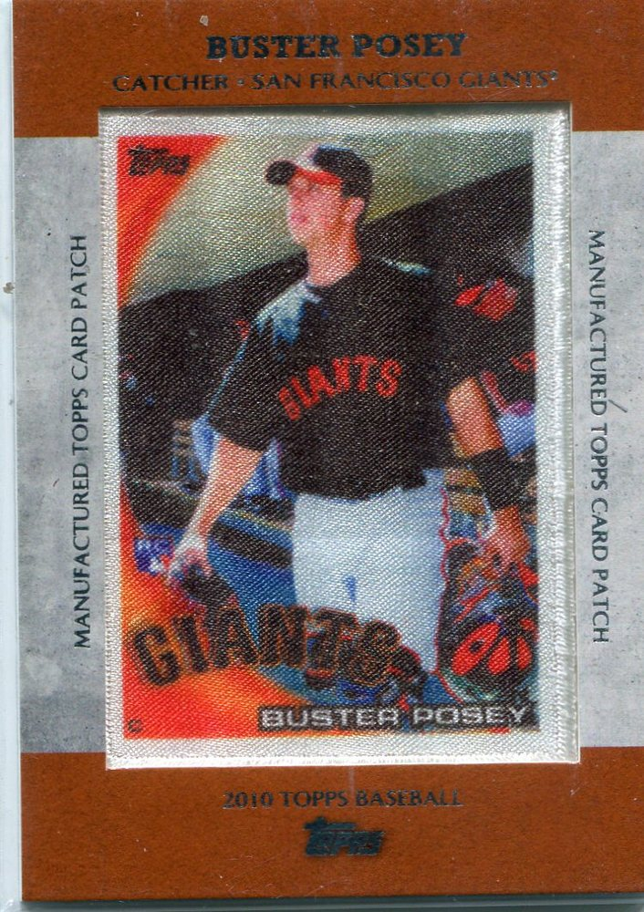 2013 Topps Manufactured Patch #MCP24 Buster Posey