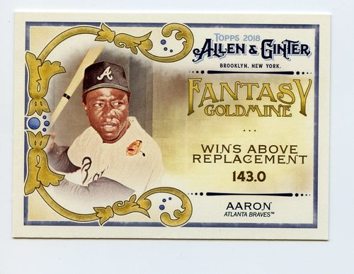 Photo of 2018 Topps Allen and Ginter Fantasy Goldmine #FG1 Hank Aaron