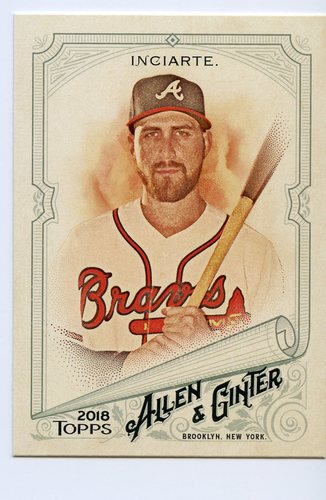 Photo of 2018 Topps Allen and Ginter #344 Ender Inciarte SP