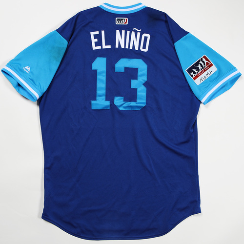 "Photo of Salvador ""El Nino"" Perez Kansas City Royals Game-Used Jersey 2018 Players' Weekend Jersey"
