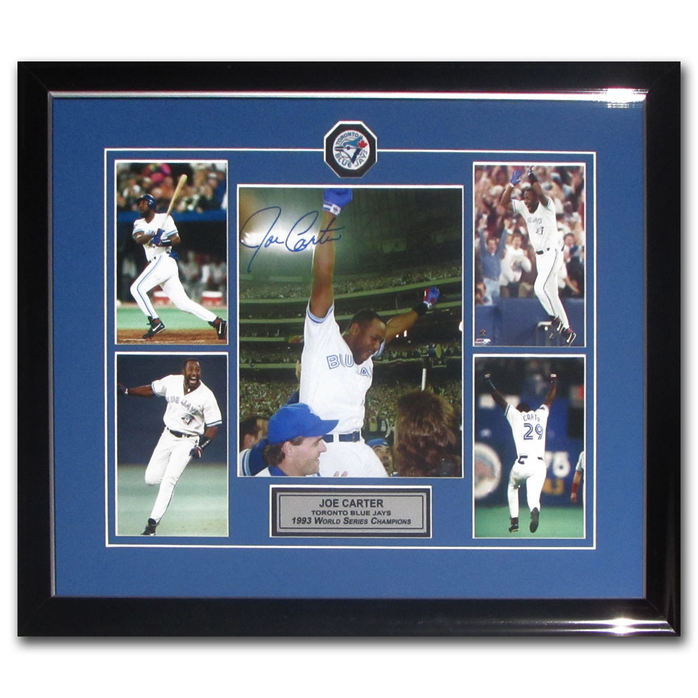 Joe Carter Autographed Framed 1993 World Series Home Run Display