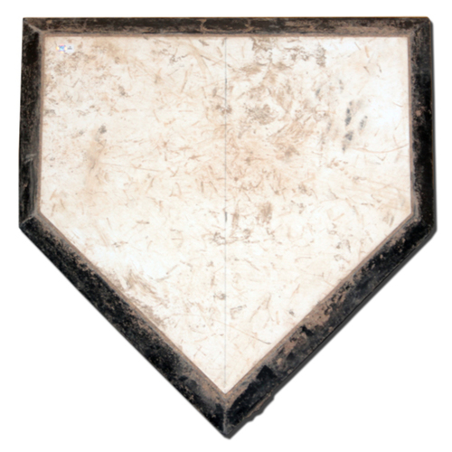 Photo of Game-Used Home Plate -- 2015 NLDS Game 4 -- Cubs Clinch NLDS Over Cardinals -- 10/13/15