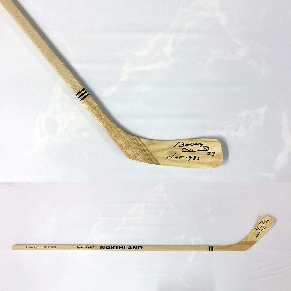 BOBBY HULL Signed Northland Stick W/HOF Inscription - Chicago Blackhawks