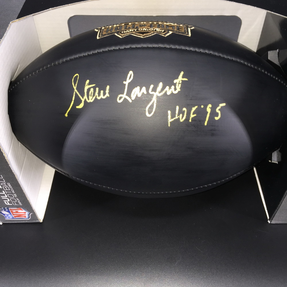 HOF - Seahawks Steve Largent Signed Commemorative Black Hall of Fame Football