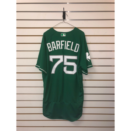 Jesse Barfield Team-Issued 2018 St Patrick's Day Jersey