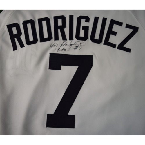 "Photo of Rays Baseball Foundation Auction: Ivan ""Pudge"" Rodriguez Autographed Jersey - Size 46"