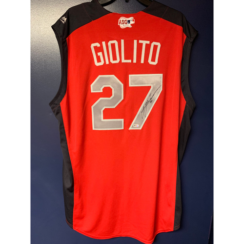 Photo of Lucas Giolito 2019 Major League Baseball Workout Day Autographed Jersey