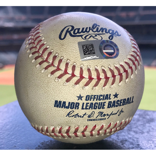 Photo of Game-Used Baseball: 8/4/19 Astros vs Mariners, Justin Verlander to Dylan Moore (Triple)