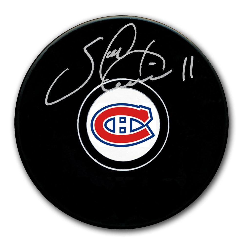 Saku Koivu Montreal Canadiens Autographed Puck
