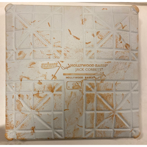 Photo of 2019 NLDS Game Used Base - Second Base Used During 2nd Inning - 10/9/19 - Cardinals Clinch