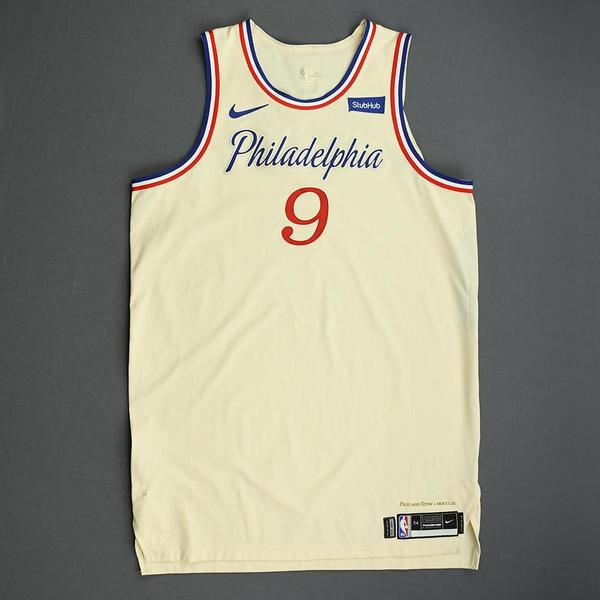 Image of Kyle O'Quinn - Philadelphia 76ers - Christmas Day' 19 - Game-Worn City Edition Jersey - Dressed, Did Not Play
