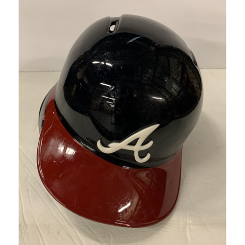 Photo of Brian McCann Game Used Postseason Helmet - Worn 10/3/19 -  Also worn for 1,000th Career RBI 6/14/19
